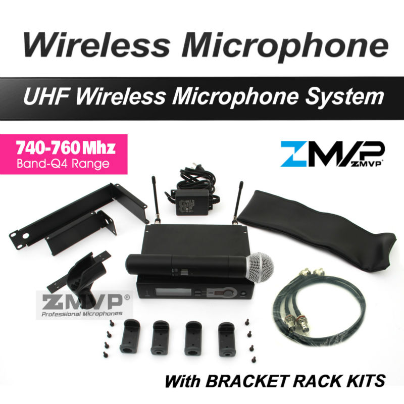 Free Shipping by DHL FEDEX to US EUR! Professional UHF Handheld Wireless Microphone System with Rack Mounting Bracket Rack Kits 1pcs lots tv mobile bracket 32 to 52 lcd monitor mobile bracket cart pushcart st av102 free shipping by fedex