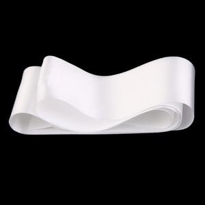 Image 3 - Pack of 40 Plain Blank Satin Ribbon Sash DIY Accessories White