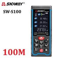 SNDWAY High precision Digital Laser rangefinder Color display Rechargeabel 100m Laser Range Finder distance meters tape measure
