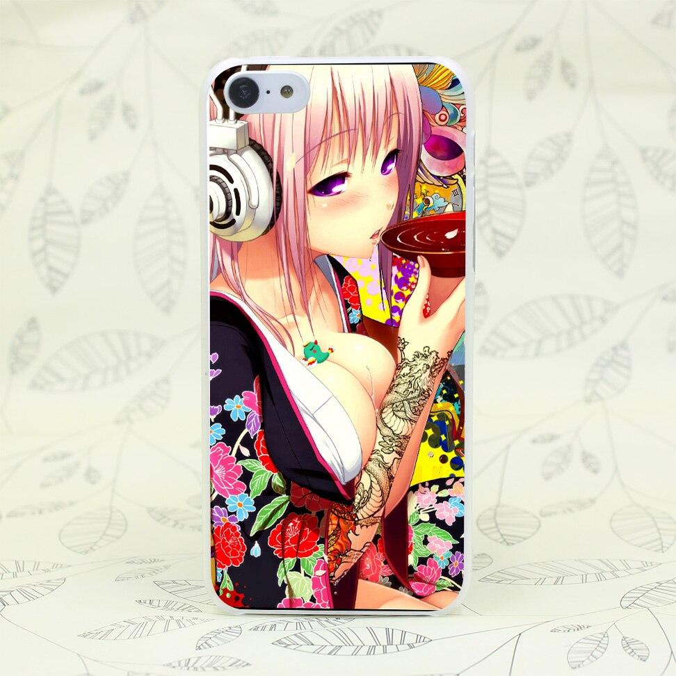 47F Anime Sex Headphones Hard Transparent Case Cover for iPhone 7 7 Plus 4 4s 5 5s 5c SE 6 6s Plus