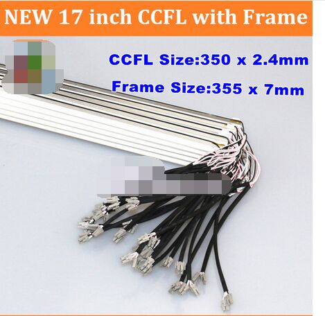 20PCS NEW 17'' Inch Dual Lamps CCFL With Frame,LCD Monitor Lamp Backlight CCFL With Cover 350MM,FRAME:355mm X7mm