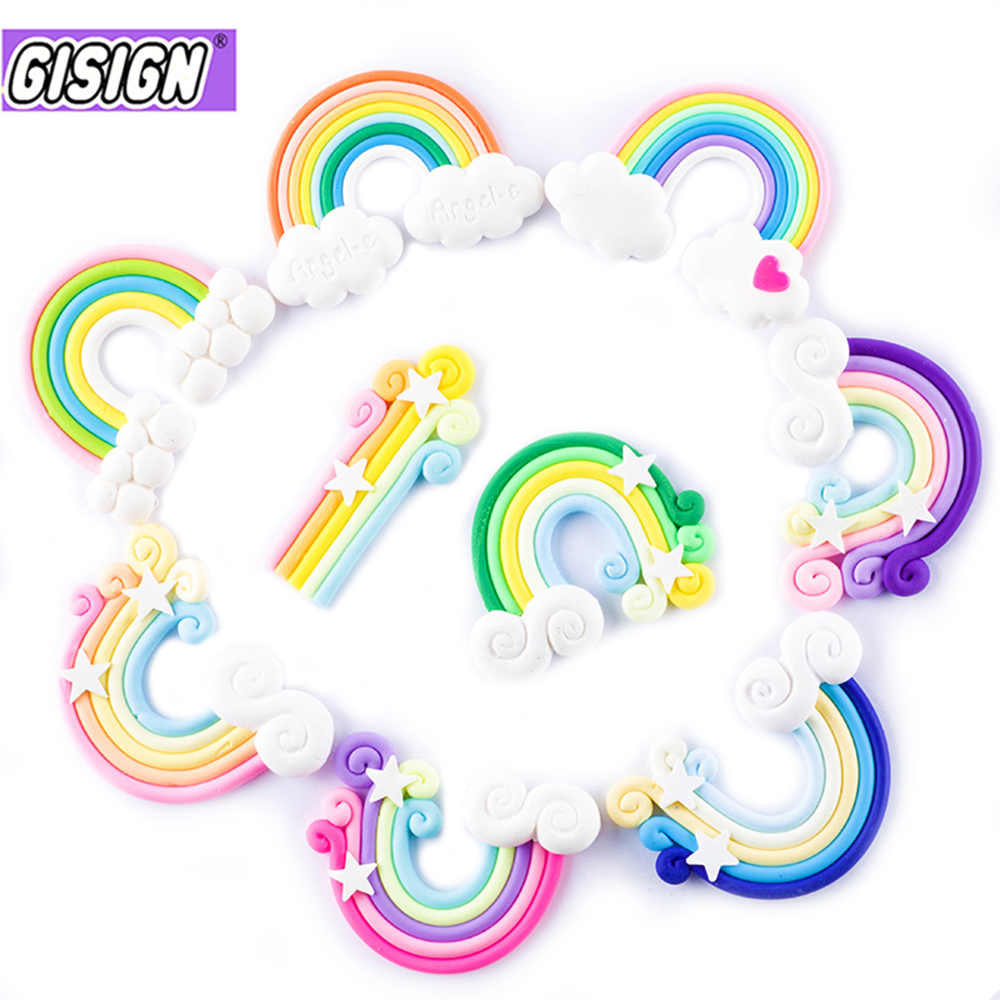 Rainbow Charms For Slime DIY Candy Polymer Bead Filler Addition Slime Accessories Toys Lizun Modeling Clay Kit For Children