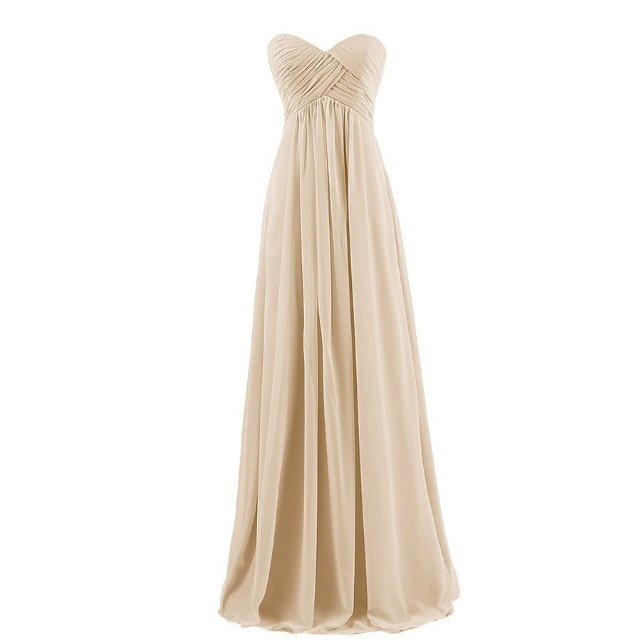 2019 New Tube Top Women   Bridesmaid     Dress   Elegant Party   Dresses   Prom Gowns Floor Length Vestido De Festa Custom Made Robe De