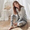 2XL Big Size Pijama Feminino Inverno Pyjama Femme Pigiama Donna Plus Size Pijama Set Pyjamas Women Pijamas Mujer Pajamas