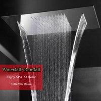Большая душевая головка осадков водопад матовый или зеркальный душ панель потолок ванная комната крепежные принадлежности Душ Роза эконом