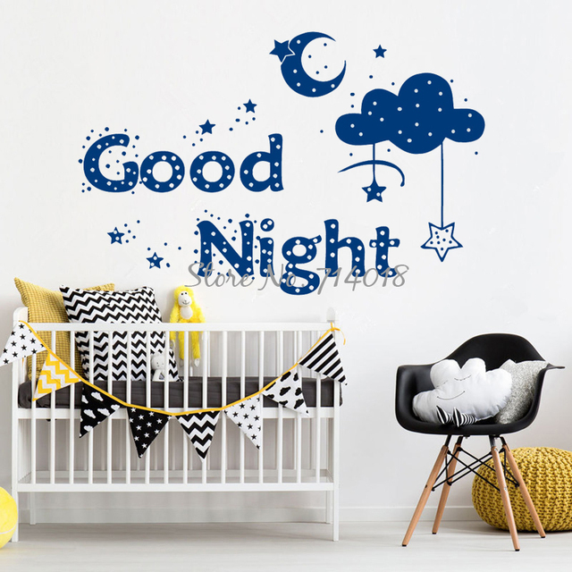 baik malam bulan bintang cloud vinyl dinding decal wall sticker
