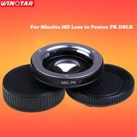 Объективы для фотоаппаратов адаптер с оптической Стекло для minolta md объектив Pentax PK DSLR Средства ухода за кожей Бесконечность MD-pk