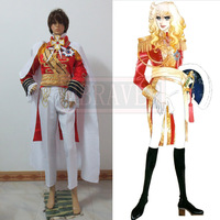 Versailles rose(Lady Oscar) Oscar Guard team uniforms Red Cosplay Costume Custom Made