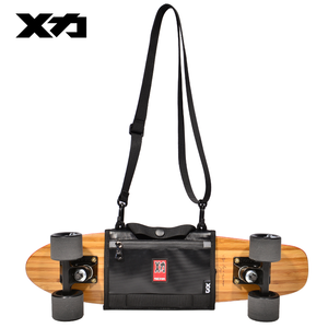 Image 2 - MACKAR Pro 25x21cm Skateboard Carrying Straps Bags 22x16cm Small Cruiser Board Packs Men Rubber Coating Material Handbags