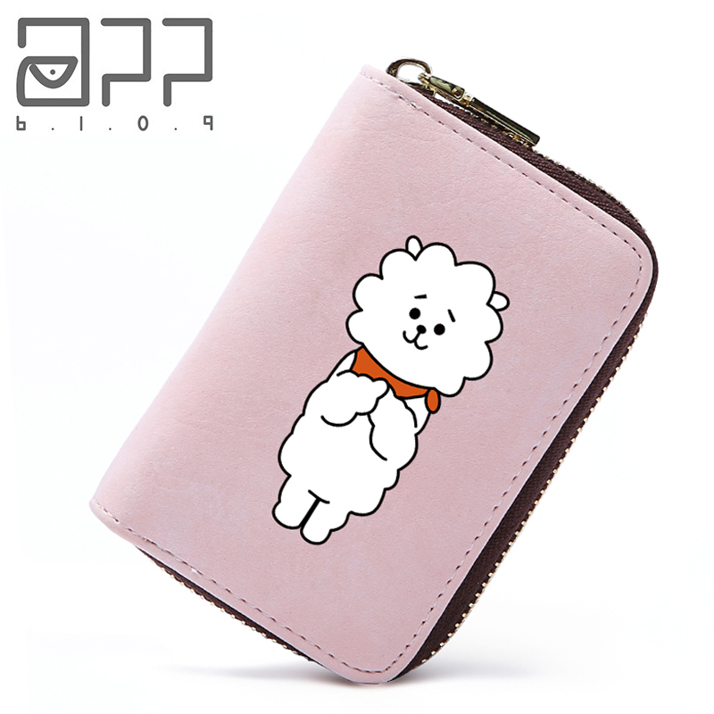 APP BLOG Brand Cute Sheep BTS BT21 Passport Cover ID Credit Card Holder Bag Case Travel Wallet 3D Design PU Leather Women Man app blog lovely pikachu women travel passport bag credit id card holders cash wallet documents case 2018 zipper cards organizer