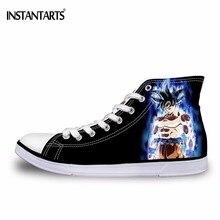 Instantarts animal caliente Dragon Ball imprimir High Top zapatos de lona hombres vulcanizar zapatos Cool Super Saiyan son Goku vegeta zapatos niños