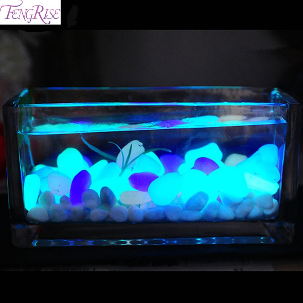 Aquarium fish tank cyprus - 50pcs Glow In The Dark Artificial Luminous Pebbles Stone Aquarium Fish Tank Decoration Accessories China