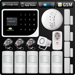 Latest WIFI GSM Alarm System Security Home GSM Alarm System APP Control Alarm Russian Spanish English Dutch S5 Anti-pet Motion