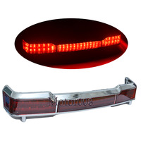 Chrome LED Tail Brake Light Accent for Harley Touring Trunk King Tour Pack Wrap