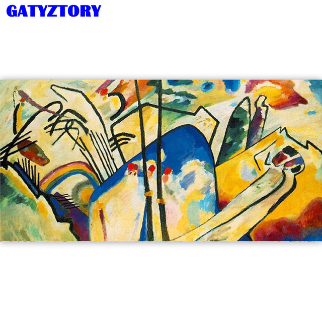 GATYZTORY Frame Large Size Picture DIY Painting By Numbers Acrylic Paint By Numbers Modern Wall Art Canvas Painting For Home Art