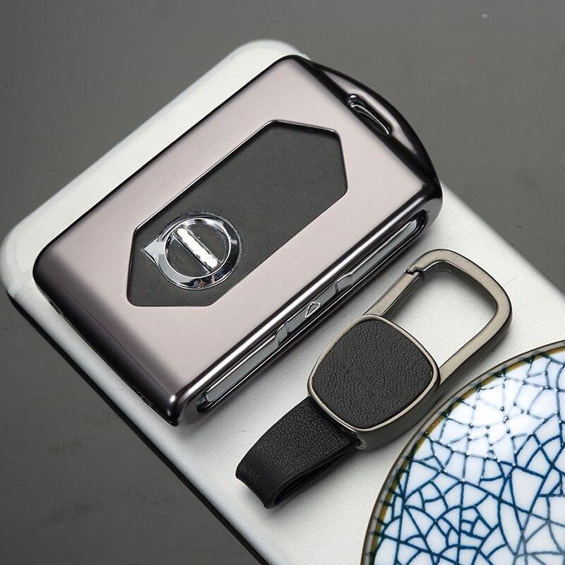 Pour Volvo XC40 XC60 XC90 s90 2018 voiture clé housse pour t5 t6 2015 2016 t8 2017 Clé intelligente porte-couvercle Protecteur En Aluminium