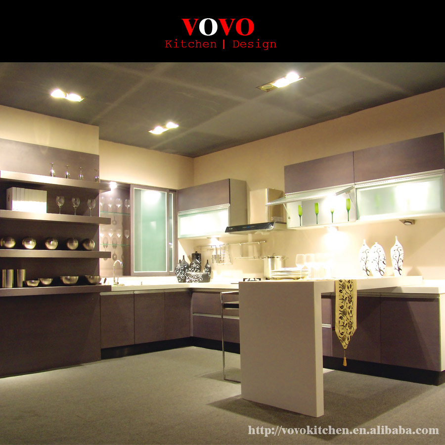 2016 New Style Lacquer China Made Kitchen Cabinets-in