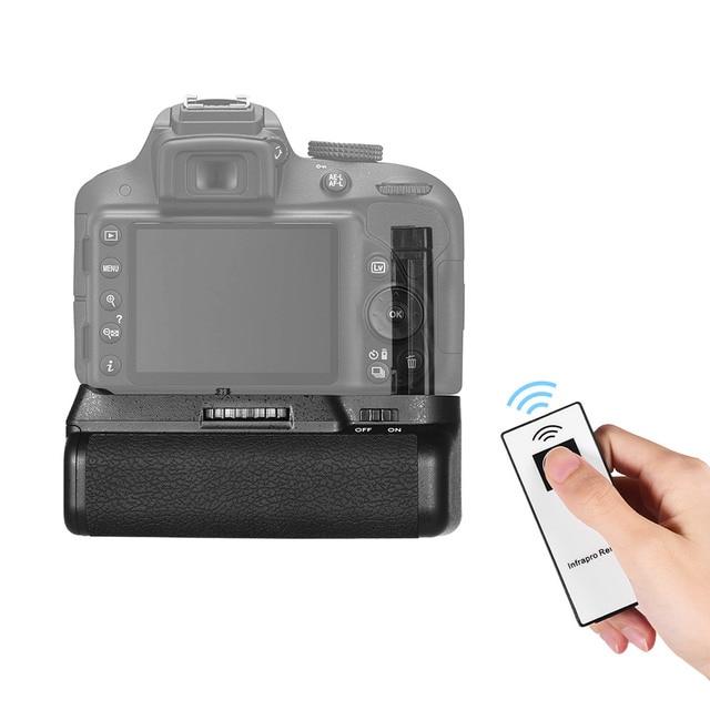 EN EL verticale 14 del supporto della presa della batteria alimentato a batteria con telecomando di IR per la macchina fotografica di Nikon D5300 D3300 D3200 D3100 DSLR