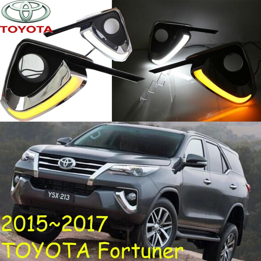 ФОТО Fortuner daytime light,2015~2017,Free ship!LED,Fortuner fog light,2ps/set,Fortuner headlight