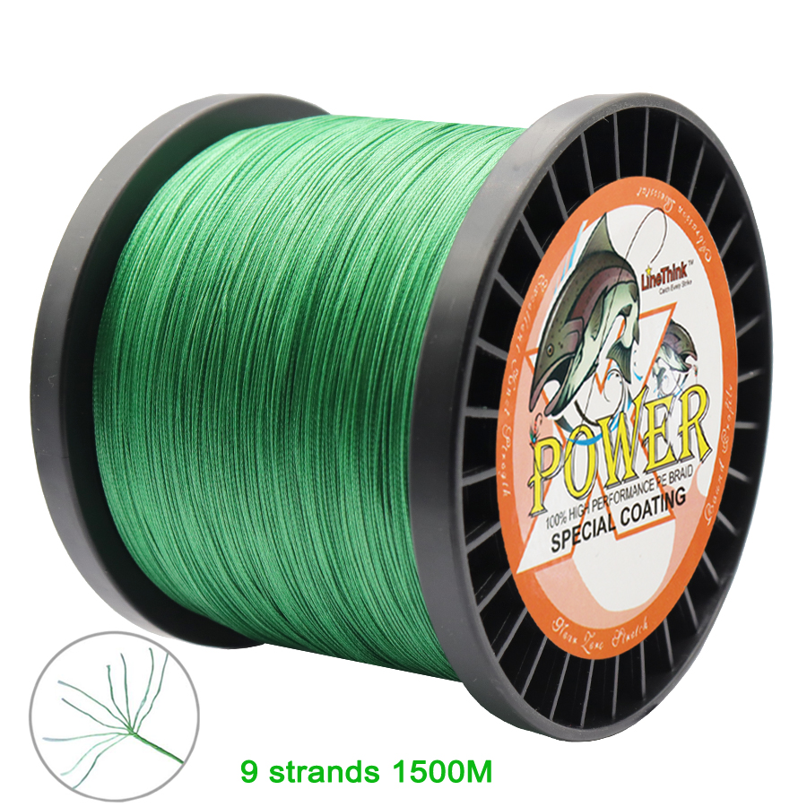 Power 9 Strands 1500M Braided Fishing Line PE Wire Multifilament Fishing Line Braided Wire Saltwater Fishing
