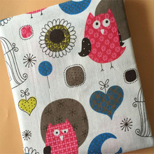 Childish Style Canvas Fabric Printed Cotton Linen DIY Patchwork Telas Sewing Quilting Material Home Textile Pillow Cover