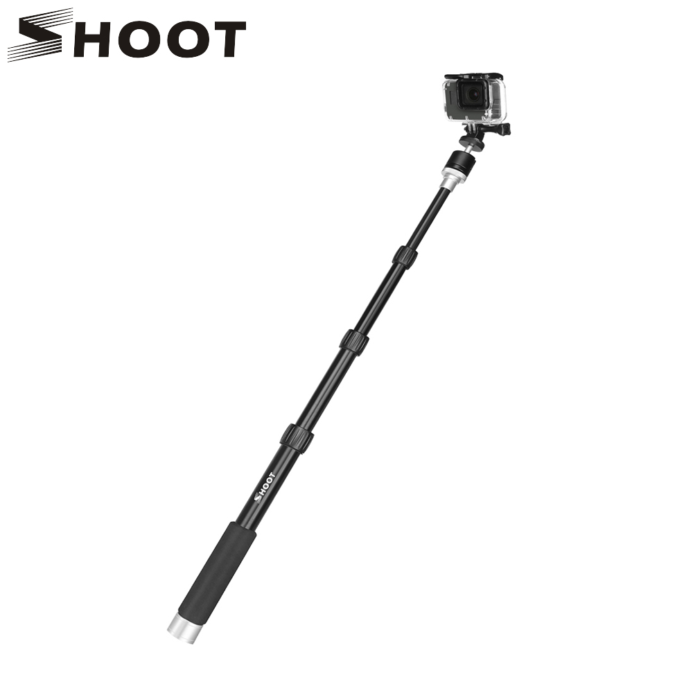 SHOOT 28.7 inch Portable Aluminum Alloy Monopod For GoPro Hero 6 5 4 Yi 4K Eken H9 Camera With Ball Head Selfie Stick For Phone