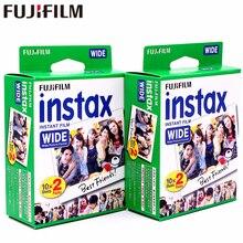 Fujifilm instax 40 folhas brancas, largas, filme de borda branca para fuji instant photo camera 300/200/210/100/500af