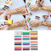 DiYeah 11 Colors Rainbow Body Face Paint Makeup Painting Pigment 30g Body Art for Halloween Neon UV Metallic Split Cakes Pro