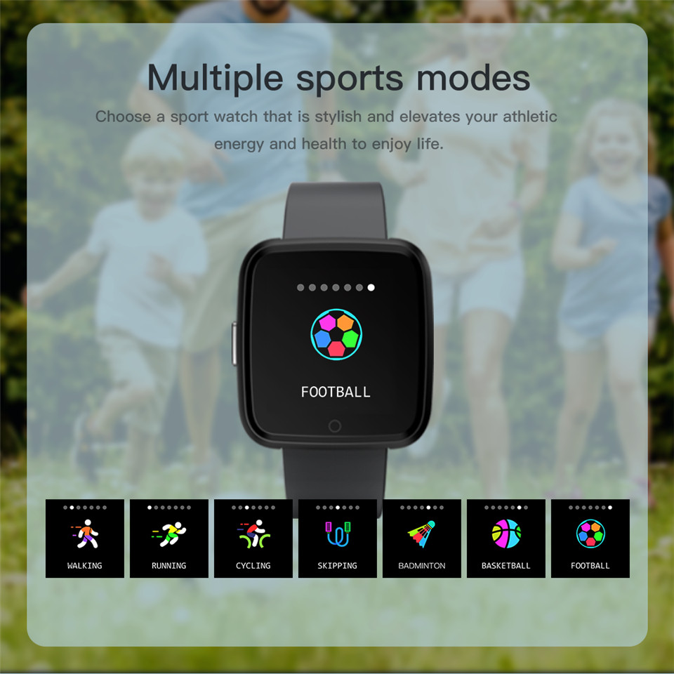 Y7 Smart watch Blood Pressure Heart Rate Monitor Sport Fitness Tracker IP67  Waterproof Smartwatch APP Connect Iphone Android IOS
