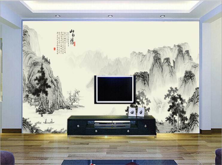 Chinese style Landscape painting large 3d mural wallpaper wall stickers personalization bedroom can customized wallpaper design 2503art large murals3d can be custom made furniture decorative wallpaper house ornamentation decor wall stickers chinese style