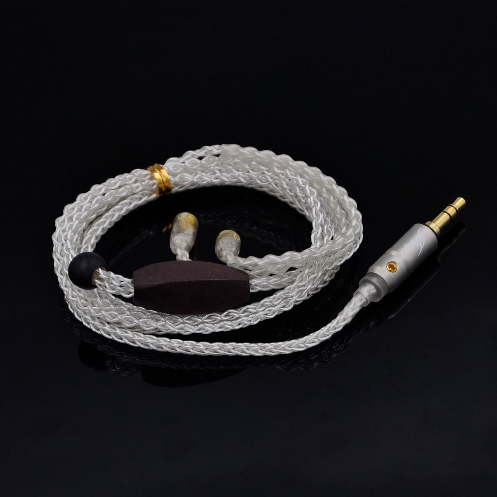 AK Custom Made High Quality 8-core Silver Plated Cable Earphone Upgrade Cable Ues For Shure SE535 SE846 UE900 With MMCX wooeasy custom made 8 core the heart of the ocean earphone upgrade cable for ue pro18 se215 ie80 im40 70 w4r ue900 tf10 15