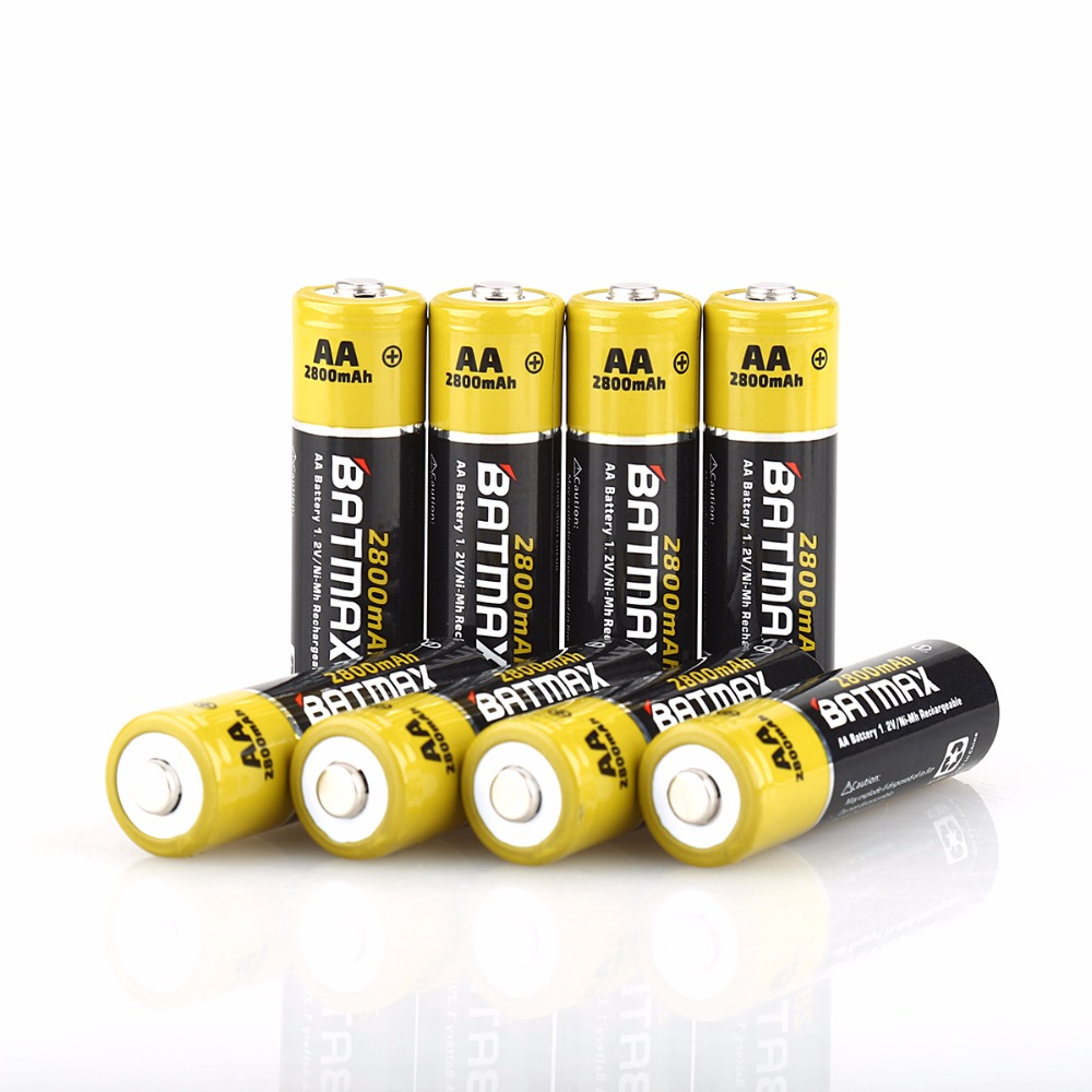 8 packs high capacity 2800mah aa nimh rechargeable batteries in rechargeable batteries from. Black Bedroom Furniture Sets. Home Design Ideas