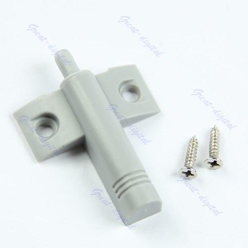 10Set/Lot Gray Kitchen Cabinet Door Drawer Soft Quiet Close Closer Damper Buffers + Screws