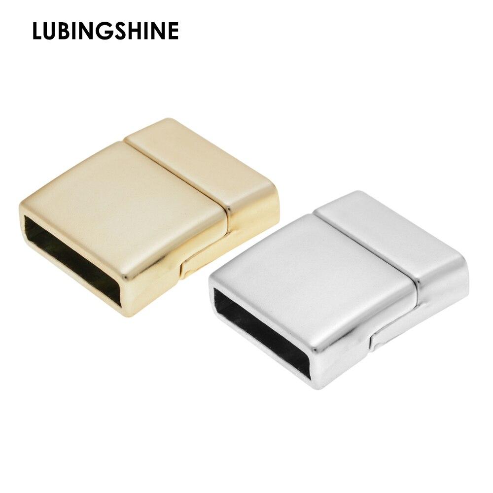 10pcs 10 mm en Alliage de Zinc Plaqué Or Cristal Fermoirs Magnétiques Accessoires