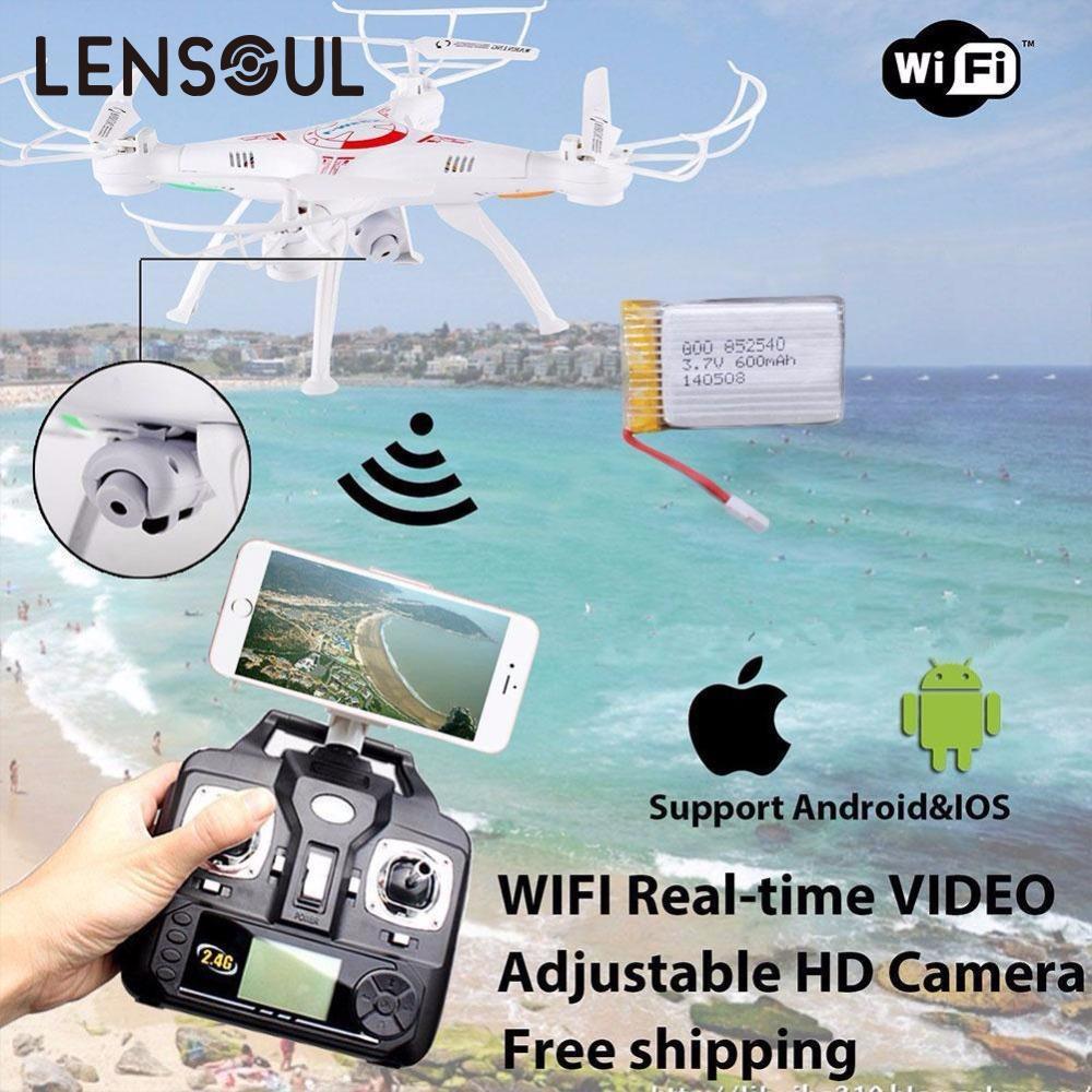 Lensoul FPV Drone WiFi Della Macchina Fotografica Video In Tempo Reale RC Quadcopter 2.4G-Axis Quadcopter
