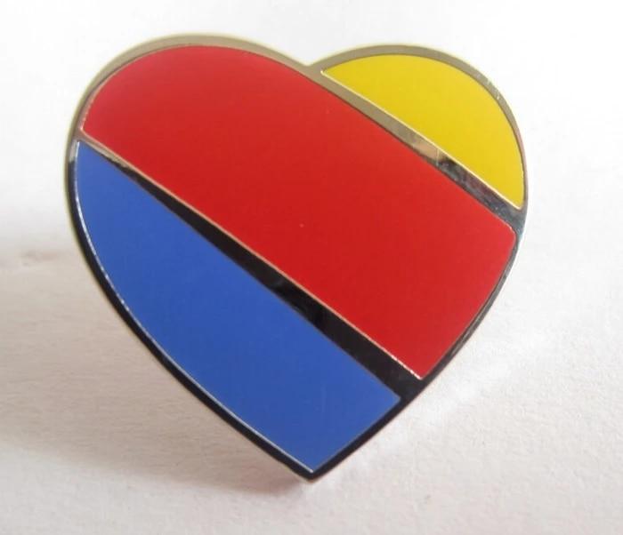 Heart  Lapel Pin Tack Pin E66