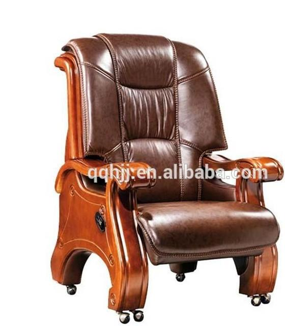 European style solid wood carving antique leather office chair A299 - European Style Solid Wood Carving Antique Leather Office Chair A299
