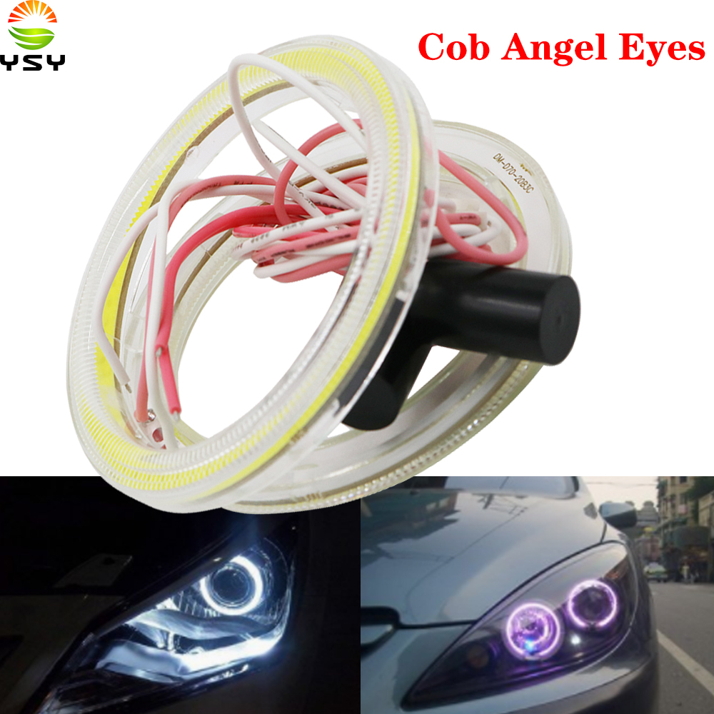YSY 4X Car Angel Eyes Led Car Halo Ring Lights Led Angel Eyes Headlight for Car