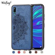 Huawei Y7 Pro 2019 Shockproof Soft TPU Cloth Texture Hard Phone Case For Cover Fundas