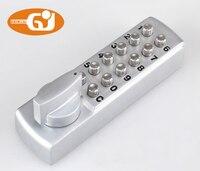 Dritte generation zink-legierung tastatur mechanischen passwort türschloss push botton