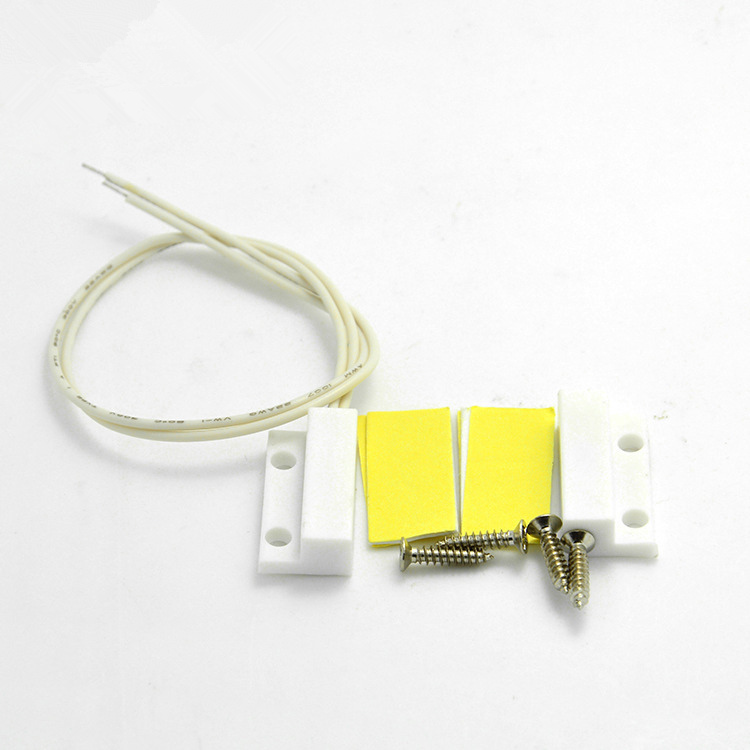 Hot Sale High Sensitive 0.5A 100V 10W ABS 1 Set Door Window Sensor Contact Magnetic Reed Sensor Switch Alarm With 4 Screws White