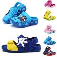 b326b28af Обувь для девочек; детская садовая обувь; Детские Мультяшные сандалии;  летние тапочки для малышей