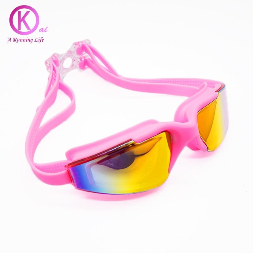 Nejkvalitnější plavecké brýle Unisex pokovování HD čočky Plavecké brýle plavou brýle s brýlemi na kulečníkové pouzdro