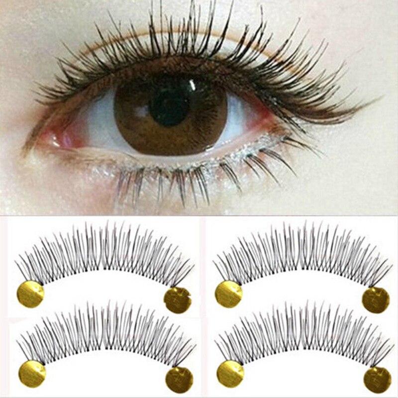 10 par nova maquiagem cílios postiços macio Natural cruz longos cílios extensão