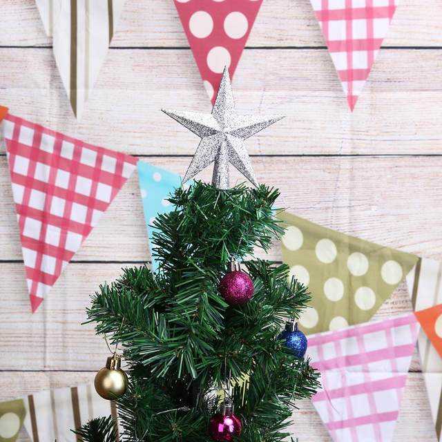 Christmas Tree Top Stars Pine Garland Sparkle Ornament Christmas Decoration for home Christmas Tree Ornament Topper Party Decor 18