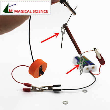 wholesale Fun physics experiment Homemade Electromagnet DIY materials,current magnetic effect,home school educational kit