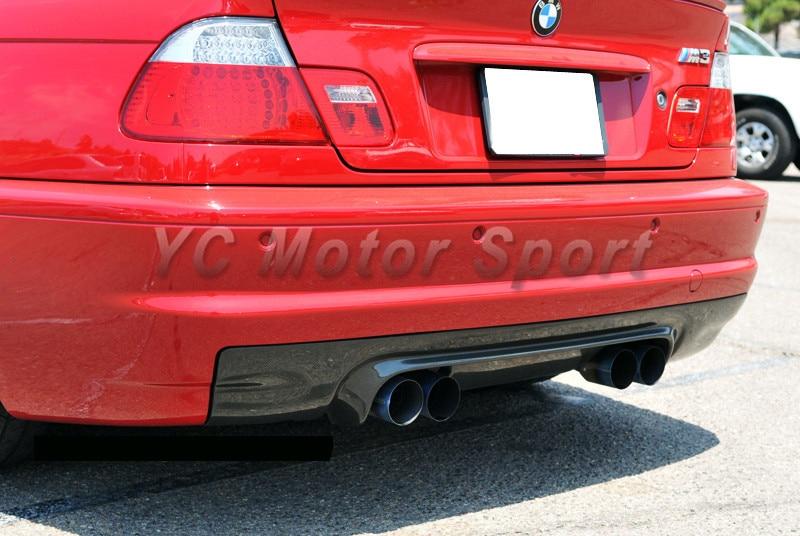 Car Accessories Portion Carbon Fiber CSL Style Rear Diffuser Fit For 2000 2006 E46 M3 Rear Diffuser Lip