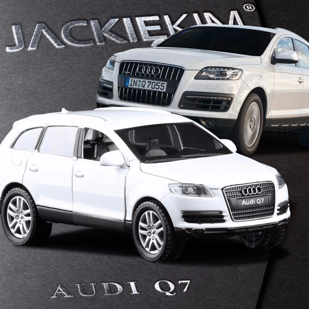 high simulation exquisite 132 audi q7 suv alloy car model with pull back sound light luxury cars for kids gift collection toys