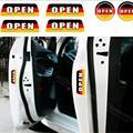 6 pçs/set Aviso Adesivos Refletivos Adesivos de Carro Porta Aberta Aviso de Segurança Alemanha Bandeira Estilo Do Carro Para Vw Audi Bmw