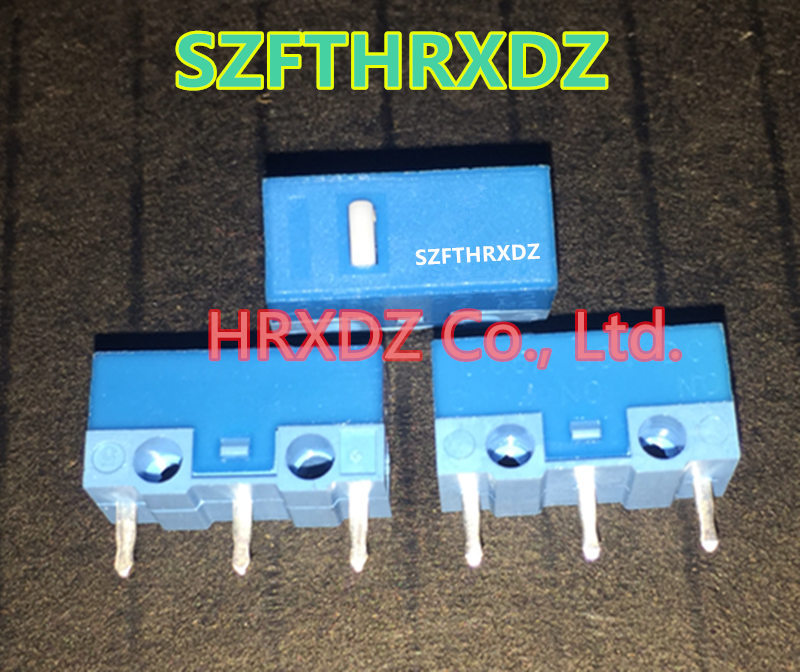 SZFTHRXDZ HUANO blue shell white spot game mouse jiggle switch silver alloy contact life 20 million times
